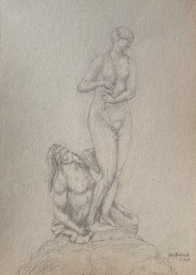 Der wilde Wassermann, Otto Eberhardt, 1949, Zeichnung, Papier, 21x29cm, ID1770