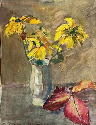Sonnenhut, Otto Eberhardt, 1946, Aquarell, Papier, 21x27,5cm, ID1790