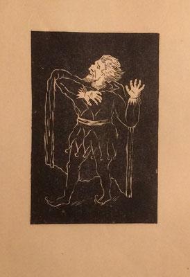 Faust, Otto Eberhardt, 1950, Linoliumschnitt, Papier, 21x30cm, ID1610