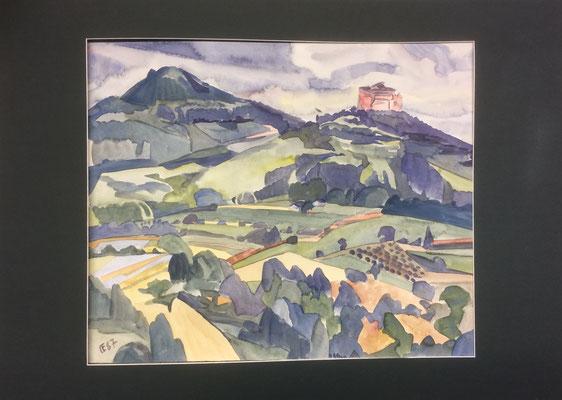 Asselstein, Otto Eberhardt, 1987, Aquarell, Papier, 51x42, ID1194