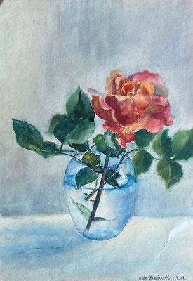 Rose, Otto Eberhardt, 1948, Aquarell, Papier, 21x29cm, ID1833