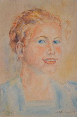 Marie-France, Otto Eberhardt, 1952, Aquarell, Papier, 29x39cm, ID1059