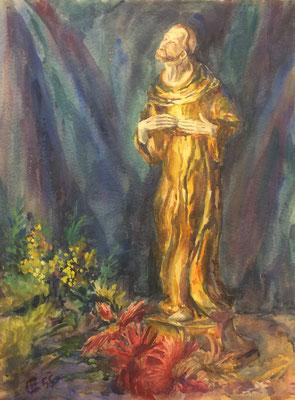 Der Heilige, Otto Eberhardt, 1955, Aquarell, Papier, 42x55,5cm, ID1586
