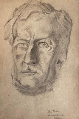Richard Wagner, Otto Eberhardt, 1947, Zeichnung, Papier, 21x29cm, ID1800