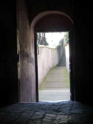 Fluchtweg der Päpste