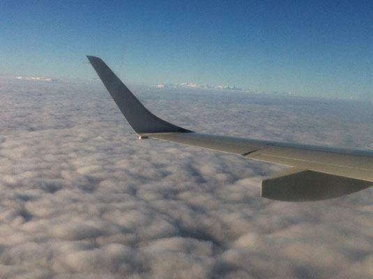 Rückflug mit fantastischem Alpenpanorame