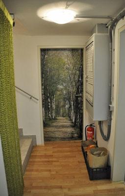 Die Eingangstüre zum Praxisraum.