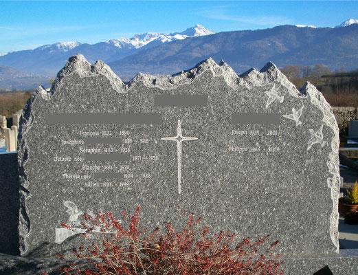 Stèle funéraire double