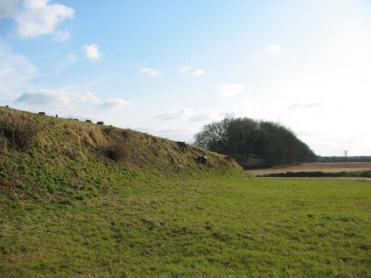 ダーネヴィアケ    2003年3月 松村一氏撮影  ヴァイキング時代にデンマークが対ドイツ防衛のため築いた土塁 現在は、ドイツのシュレスヴィヒ・ホルシュタイン州にあり 世界遺産に登録されている