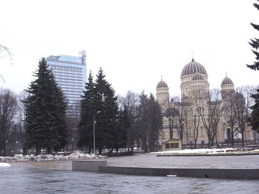 ラトビア、リーガ 正教の教会 ソ連時代プラネタリウムとして、また、外国人用高級ホテルとして使用 2009年3月21日 志摩園子氏撮影