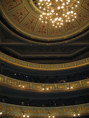 ラトヴィア、リーガ ラトビア国立オペラ劇場 天井 2008年2月17日 志摩園子氏撮影