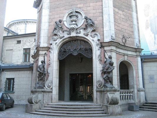 ラトヴィア、リーガ 最古の映画館入り口 2008年2月20日 志摩園子氏撮影