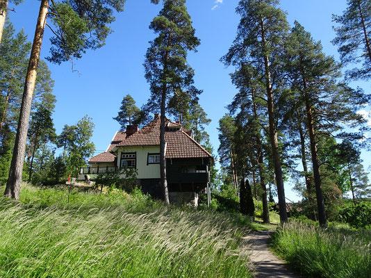 シベリウスの家        2019年8月 松村一氏撮影    ヘルシンキ近郊のアイノラに残る       作曲家シベリウスの住んだ家