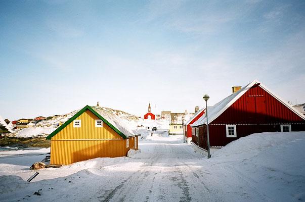 グリーンランド・ヌークの冬景色          2005年3月 松村一氏撮影