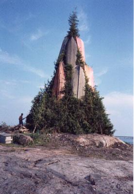 「コッコ」夏至祭に焚かれるかがり火:   夏至祭は、6月20日から26日までの間の土曜日に行われる。       2006年6月 百瀬淳子氏撮影