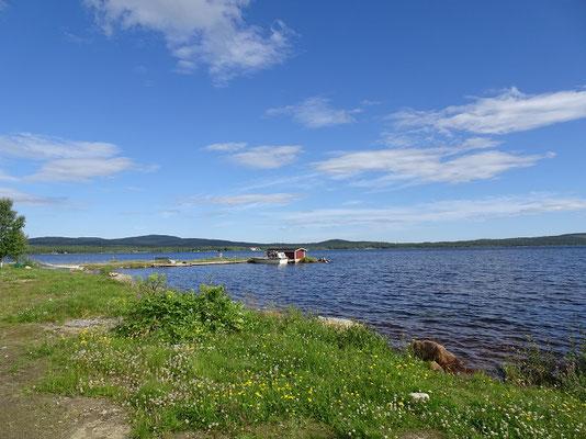 イナリ湖      2019年8月 松村一氏撮影   北部フィンランド最大の湖