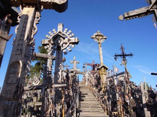 リトアニア シュウレイ近郊 十字架の丘      2011年9月志摩園子氏撮影