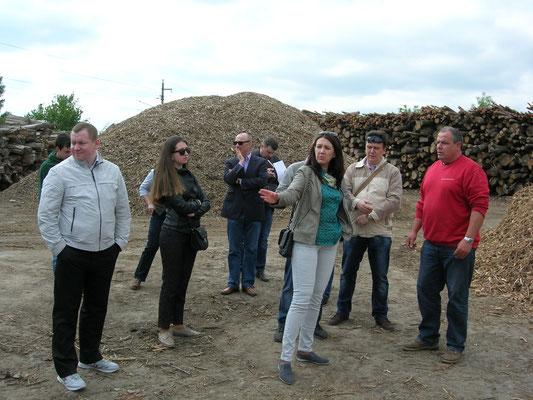 Biomasserecycling GmbH, Delegation aus Weißrussland Foto: Andreij Lednizkij
