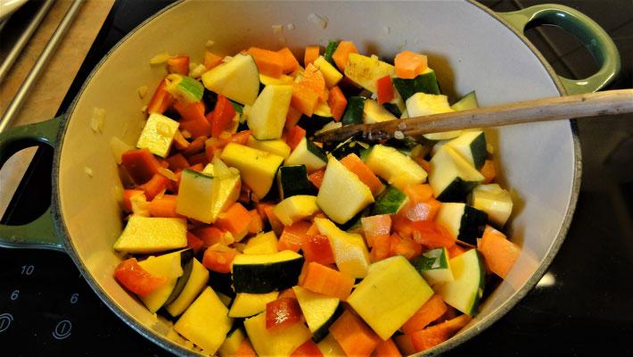 Begin van een heerlijke soep