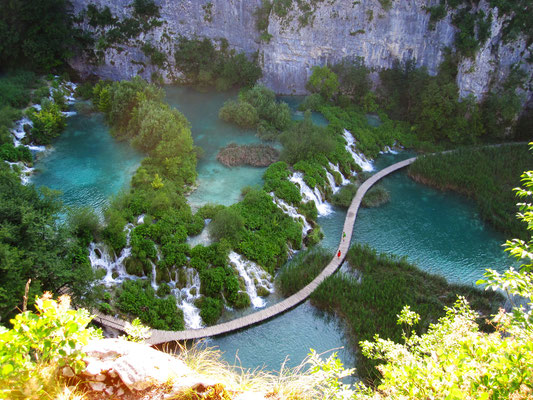 Walkway atop Plitvice Lakes National Park