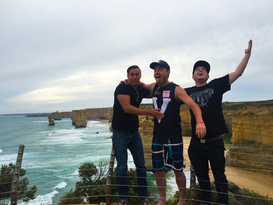 Having too much fun at the 12 Apostles, Australia