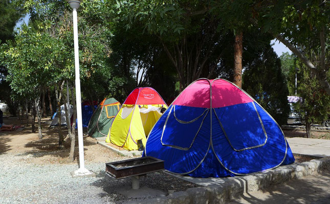One tent after the others.