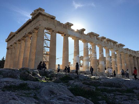 Der Parthenon.