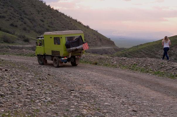 Die letzetn Meter zurück nach Tiflis.