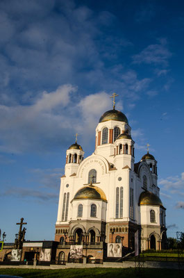 The church was errected after the Romanov family was killed here.