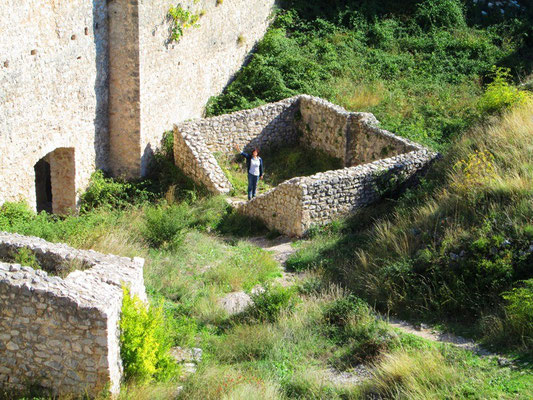 ... und danach die Burg erforschen.