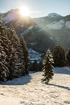 sodass wir den neuen Schnee abseits der Piste in vollen Zügen genießen!