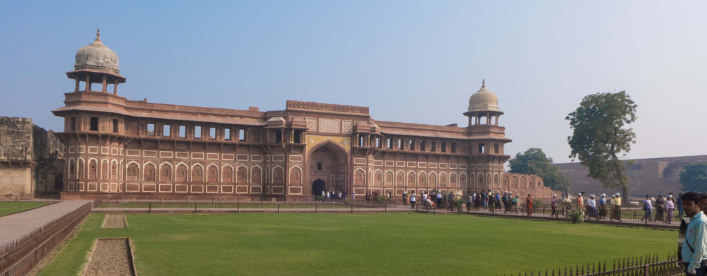 Agra Fort, here the builder of Agra Fort was inhabitted by his own son.