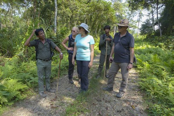 Verhaltensanweisungen für unsere Tour durch den Dschungel,
