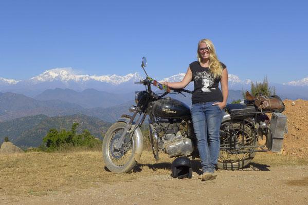 Das Annapurna Massiv im Hintergund