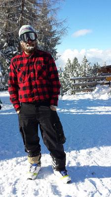 bis Jörg's Bart völlig zugefroren ist.