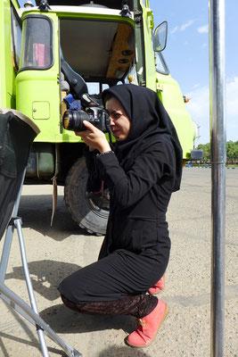 A photographer in Tehran.