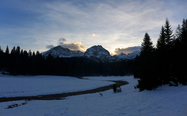The Durmitor Nationalpark in winter.