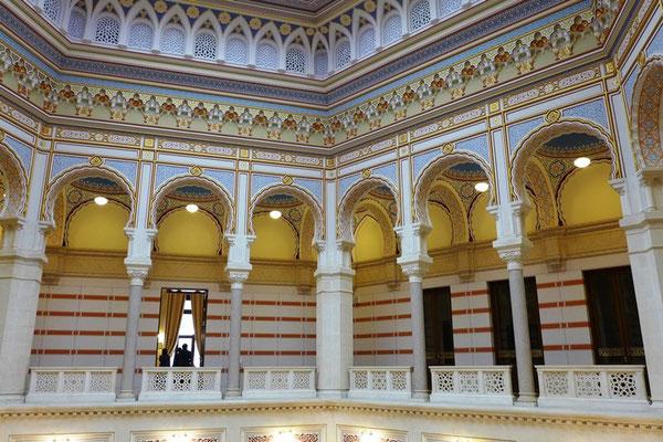 Das ehemalige Rathaus von innern mit einer beeindruckenden Ausstellung über die Geschichte der Stadt.