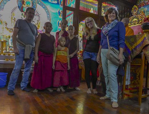 Die Kinder im buddhistischen Kloster waren sehr aufgeschlossen.