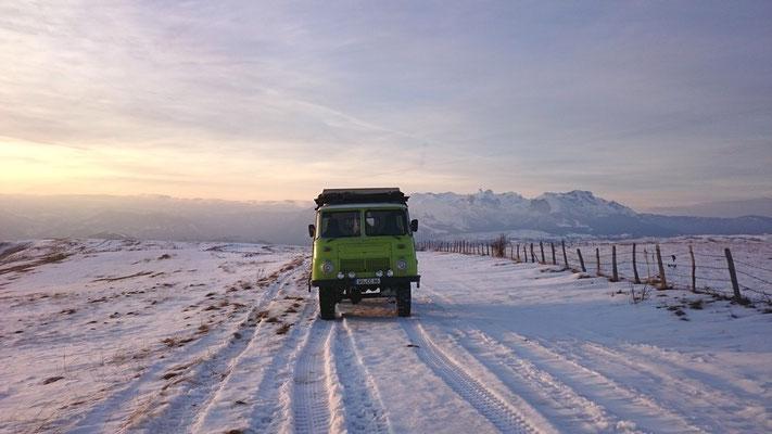 Auf dem Weg zwischen Pivsko Jezero und Zabeljak.