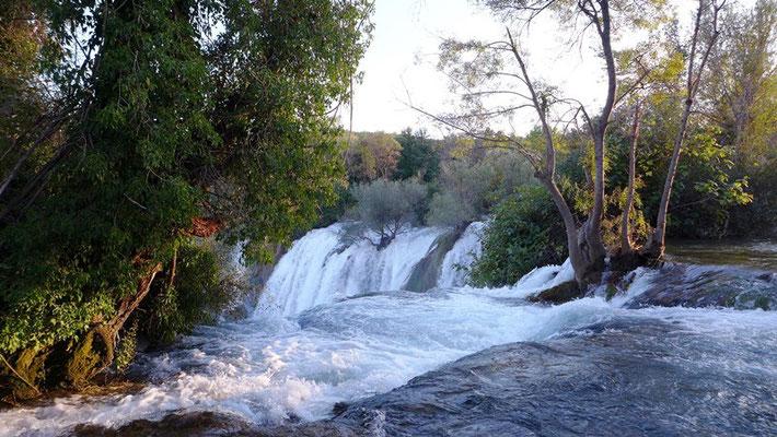 Die Wasserfälle erinnern an die Plitivcer Seen.