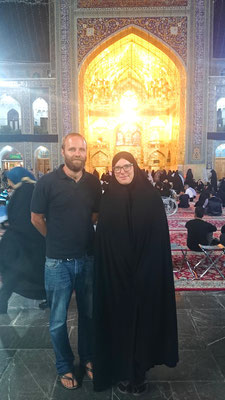 With the black chador in Mashhad you do not know hwo I am.