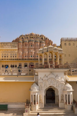 Visit the Hawa Mahal, the house for the harem.