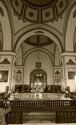 Die Mosche in Bursa war mit seiner fröhlichen Stimmung und dem Springbrunnen in der Mitte etwas ganz Besonderes.
