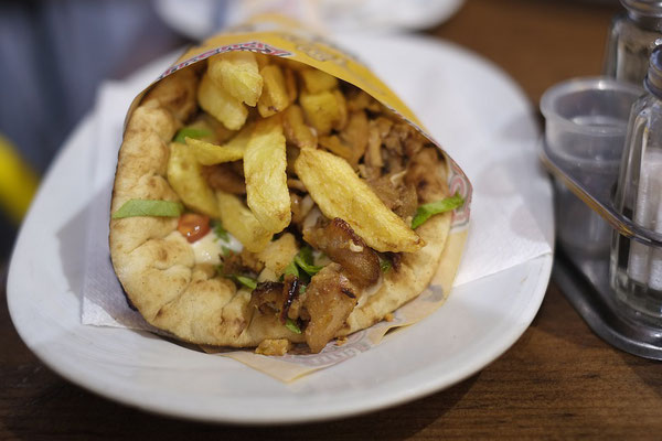 Reward for the 999 steps. Pita and Gyros.