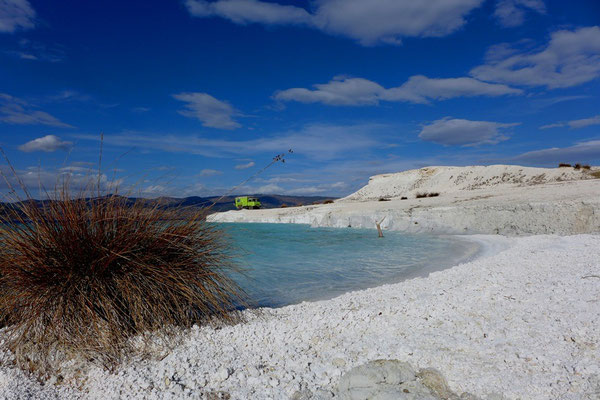 ... we found a stunning white beach of lime.