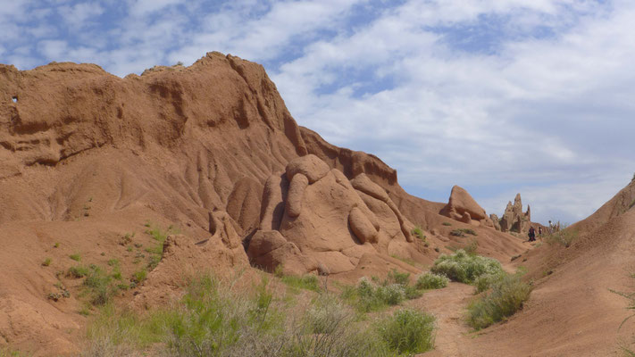 geformte Sandsteinformationen.