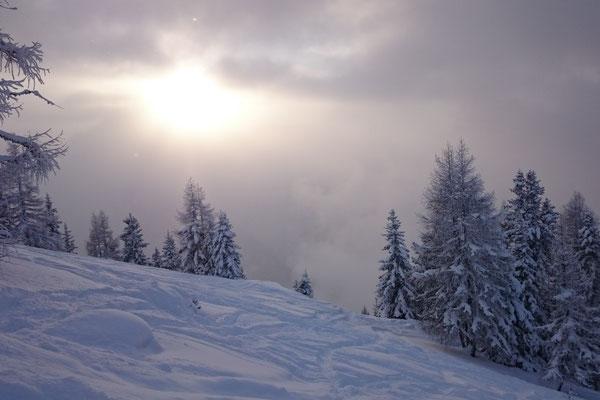 Es liegt immernoch viel Schnee...