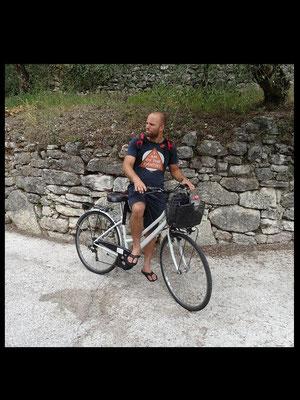 Jörg mit seinem super Fahrrad ;-)