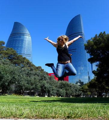 The modern Baku,